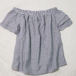 Striped Off Shoulder Blouse